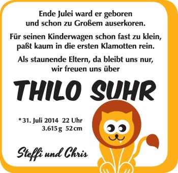 Zur Babyseite von Thilo