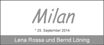 Zur Babyseite von Milan