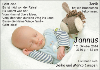 Zur Babyseite von Jannus